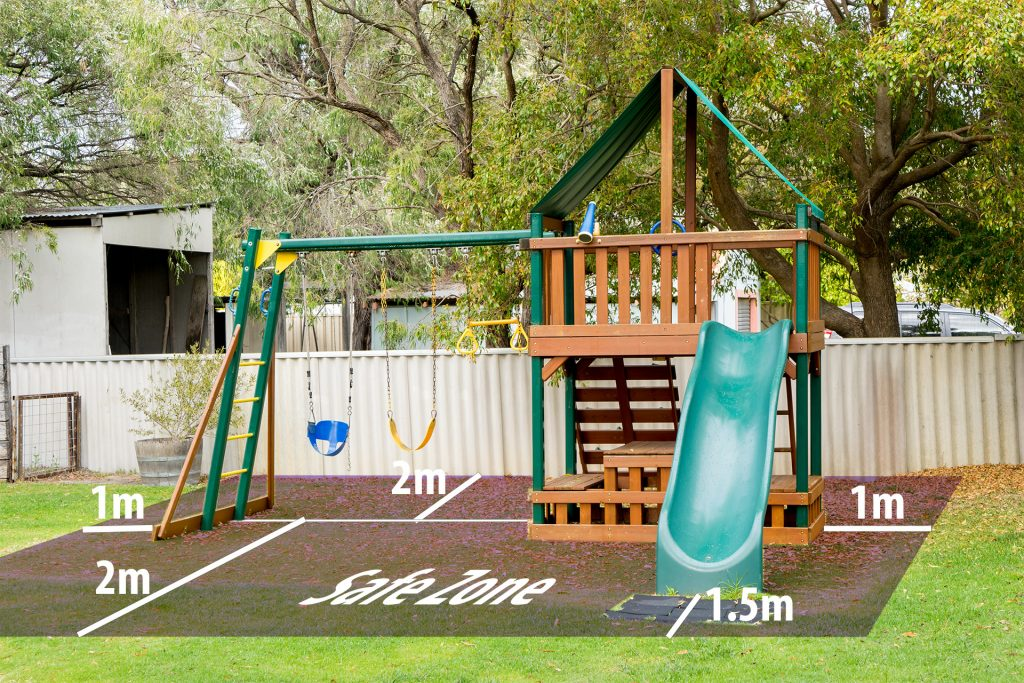 Safety Space for Outdoor Play Equipment